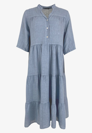 Black Colour - Kjole Sienna Linen Maxi Dress Light Blue