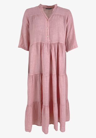 Black Colour - Kjole Sienna Linen Maxi Dress Rose