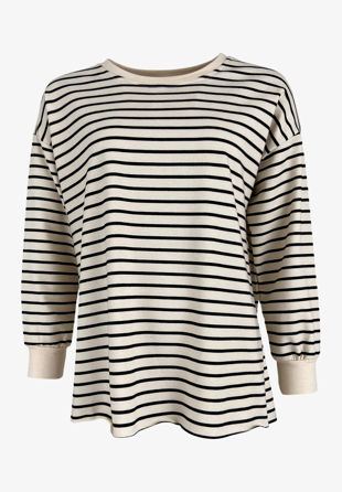 Black Colour - Sweatshirt Jamie Black Stripe