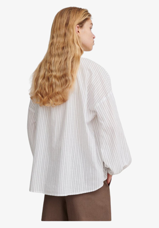Skall Studio - Skjorte Pisa Tunic White/Grey Stripe